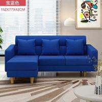 沙发床客厅小户型创意懒人沙发单人双人布艺转角沙发简约现代卧室