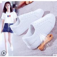 透气小白鞋女休闲学生百搭韩版板鞋学生平底镂空休闲白鞋