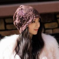 帽子女韩版潮百搭女式帽子时尚潮帽包头帽头巾月子帽