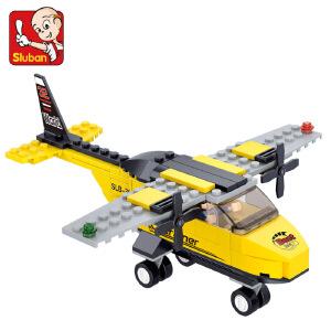 【当当自营】小鲁班航空天地系列儿童益智拼装积木玩具 教练机M38-B0360