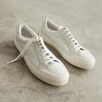 CUM复古水洗小白鞋小包头设计复古滑板鞋-男士板鞋