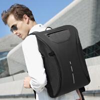 尼格尔双肩包男士商务休闲电脑包15.6寸多功能防盗背包出差旅行包 典雅黑