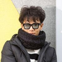 围脖男男士韩版百搭毛线简约男士针织学生时尚潮围巾