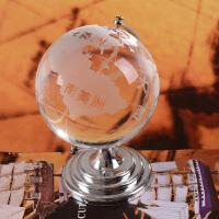 生日情人节礼物送男友老公 创意水晶地球仪模型居家装饰办公摆设