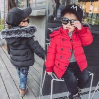 儿童装加厚棉衣男童中长款棉袄宝宝连帽保暖外套2016冬季新款
