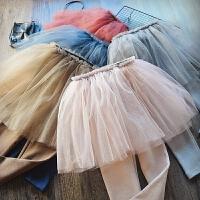 百搭仙美女童裙裤2018春装新款儿童韩版纯棉篷篷裙假两件打底裤