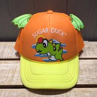 儿童帽子夏季男女童立体恐龙棒球帽户外遮阳帽女童男童防晒鸭舌帽