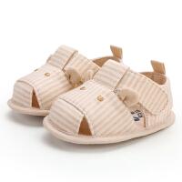 宝宝布凉鞋婴儿鞋0-1岁男女宝宝学步软底6-12个月步前鞋彩棉
