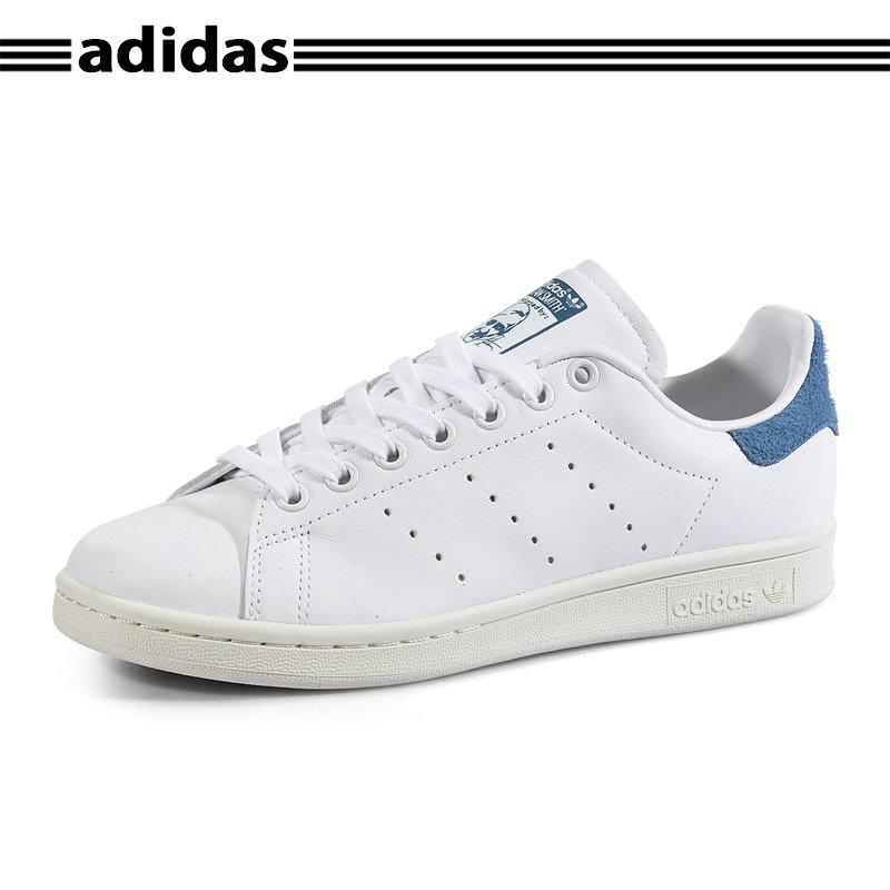 Adidas阿迪达斯 正品三叶草浅蓝毛绒尾男女写同款情侣鞋 S82259*赔十