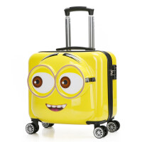 儿童拉杆箱万向轮男女宝宝18寸20寸卡通旅行箱行李箱包拖箱皮箱 3D万向轮大眼萌(20寸容量) 大眼萌系列