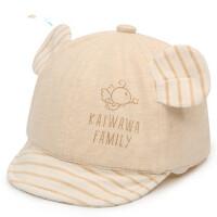 户外宝宝鸭舌帽彩棉帽婴幼儿棒球帽胎帽透气卡通遮阳帽男女孩单帽