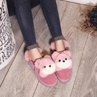 雪地靴女鞋短筒短靴加绒加厚平跟保暖学生防滑平底棉鞋