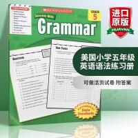 华研原版 美国小学五年级英语语法练习册 学乐进口英文原版英语教材 Scholastic Success with Gr