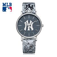 美职棒(MLB)时尚美国品牌男士手表 防水石英表 男表学生真皮腕表 MLB-YH008