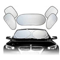 汽车遮阳挡套装涂银7件套夏季防晒含袋 车用遮阳光板