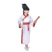 古装服装 儿童古装汉服书童三字经国学弟子规儿童汉服男女童古装