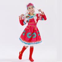 新款少数民族少儿童蒙族舞蹈裙小学生蒙古服六一表演出服装男女童