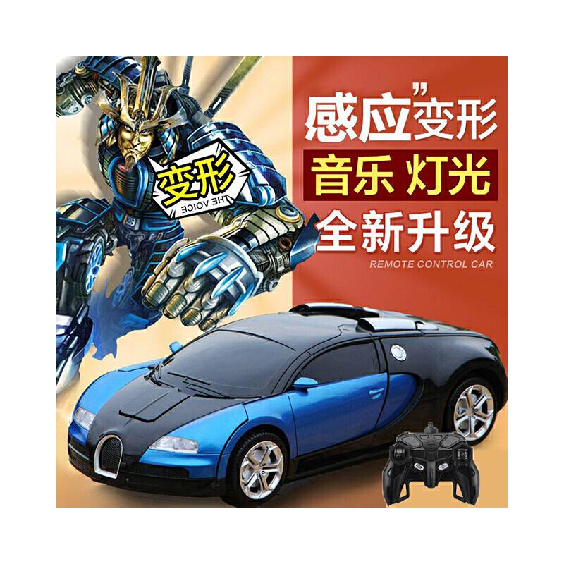 遥控车遥控汽车玩具车攀爬车越野车感应变形金刚一键变形超大赛车男孩玩具