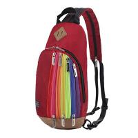 儿童背包旅行小学生男孩子双肩胸包潮韩休闲户外个性女童旅游轻便 红色