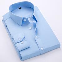 2019男士长袖衬衫韩版修身商务休闲衬衣青年寸衫潮