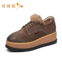 红蜻蜓正品女鞋新款冬季时尚舒适单鞋女百搭时尚休闲鞋-