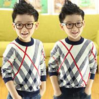 *儿童男童男宝宝秋冬款套头毛衣针织衫打底衫长款线衣外套