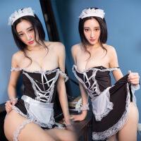 情趣内衣性感小胸夜火蕾丝女仆装激情用品女佣制服夜店透视套装骚