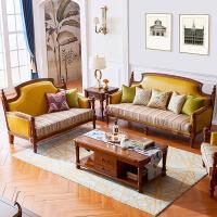 式真皮沙发123组合 欧式位户型客厅 实木皮布艺客厅