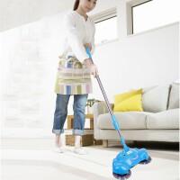 手推式扫地机不用电吸尘器 家用地板清洁器扫地机手动洁地机懒人扫把扫把簸箕组合套装 扫拖二合一 家用扫帚笤 颜色随机