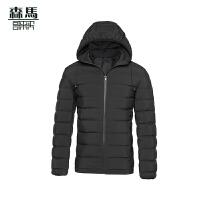 森马男士韩版连帽羽绒服男正品短款简约冬季外套