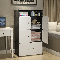 宿舍单人小号组装衣柜学生寝室简易收纳柜租房经济型柜子布艺衣橱