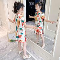 女童旗袍连衣裙夏装中大儿童小女孩唐装汉服公主裙子