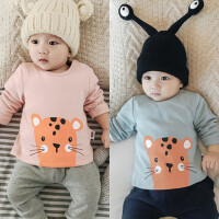 婴儿冬季上衣宝宝3加绒6T恤绒衫9冬款保暖衣服新生儿周岁居家01岁