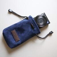 索尼RX100M3 RX100M4羊皮相机袋内胆包佳能G7X便携手工相机包