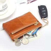 韩国迷你硬币包钥匙包牛皮零钱包女短款拉链小钱包手拿包