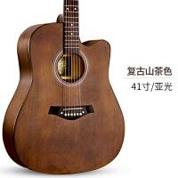 单板民谣吉他初学者学生女男新手入门练习木吉他4041寸乐器