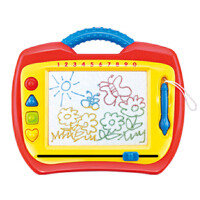 第一教室儿童写字板彩色磁性有声画板带印章宝宝绘画板涂鸦板玩具