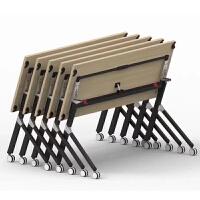 鑫华旦培训桌HD-138办公会议桌培训桌椅折叠桌移动桌学生桌课桌电脑桌翻转学习条形桌