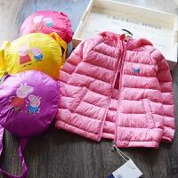 便携轻薄 女童羽绒服 2017冬季新款韩版男女宝宝棉衣 白鸭绒外套