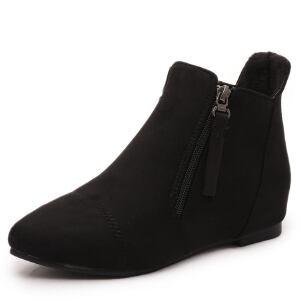 ELEISE美国艾蕾莎新品168-7-45韩版磨砂绒面内增高女士短靴