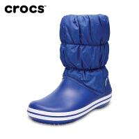 【下单立减150】Crocs卡骆驰女鞋 冬季泡芙暖靴保暖中筒雪地靴棉靴|14614 泡芙暖靴