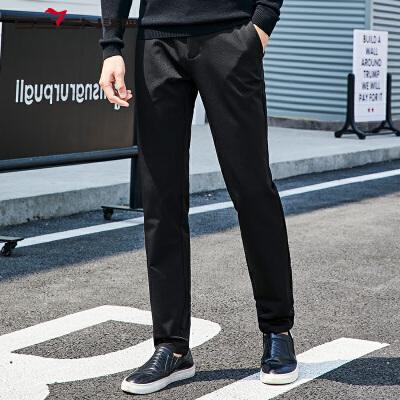 柒牌男装新品休闲裤男修身直筒商务百搭修身长裤青年裤子弹力舒适