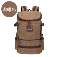 双肩包男时尚潮流帆布包男户外登山包大容量书包男电脑包旅行背包