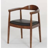 美式家具实木书桌loft电脑台式桌家用写字简易办公桌咖啡厅餐桌椅