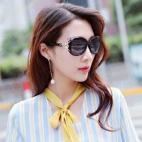 女款圆脸太阳眼镜潮 司机驾驶镜复古大框墨镜 新款偏光女士太阳镜女