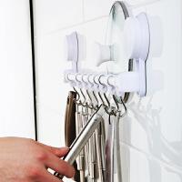 手吸盘厨房挂钩强力无痕粘胶钩免打孔壁挂承重门后挂钩置物架