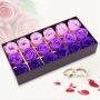浪漫礼品咖啡盒玫瑰花皂花(18朵)--颜色随机