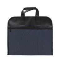 男士手提包帆布会议资料包商务公文包公事包女士手拎包文件袋定制