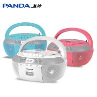 熊猫CD-880蓝牙CD复读机DVD光盘播放机儿童视频播放器影碟机便携式家用VCD/CD机光盘U盘TF卡转录磁带一体机