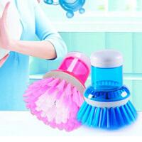 便利液压洗锅刷/压液洗锅刷洗碗刷/清洁刷刷锅器 按压既出洗洁精 颜色随机
